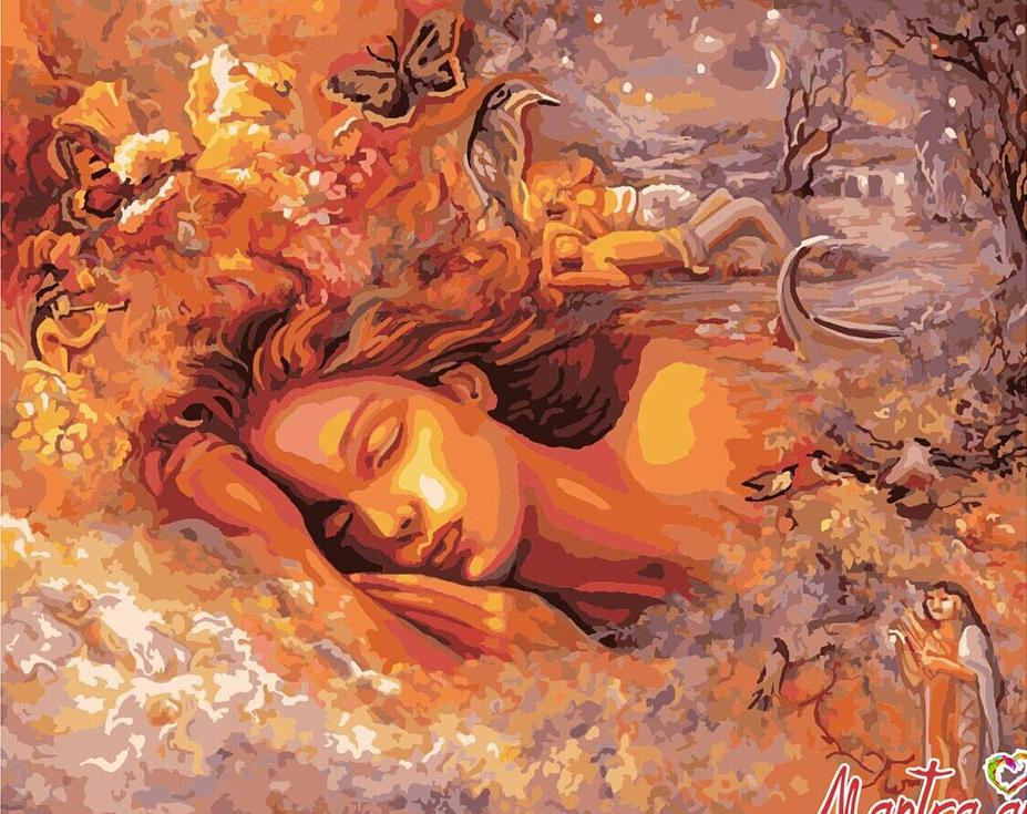 Купить Картина по номерам «Сновидение» + в наборе подарок, Mantra Art, Россия