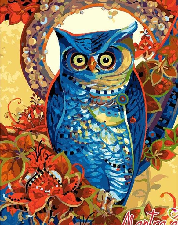 Купить Картина по номерам «Сова» + в наборе подарок, Mantra Art, Россия