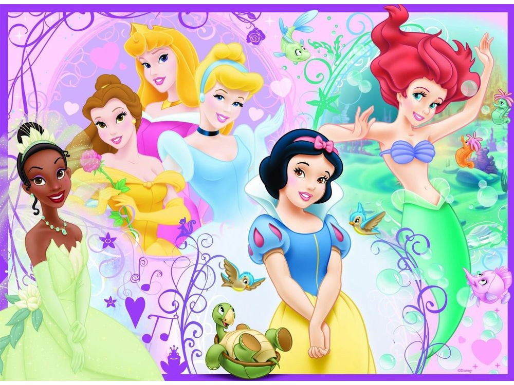 Пазлы «Дисней: принцессы»Ravensburger<br>Пазл - игра-головоломка, мозаика, состоящая из множества фрагментов, различающихся по форме.<br> По мнению психологов, игра в пазлы способствует развитию логического мышления, внимания, воображения и памяти. Пазлы хороши для всех возрастов - и ребенка-дошко...<br><br>Артикул: 10857<br>Размер: 49x36 см