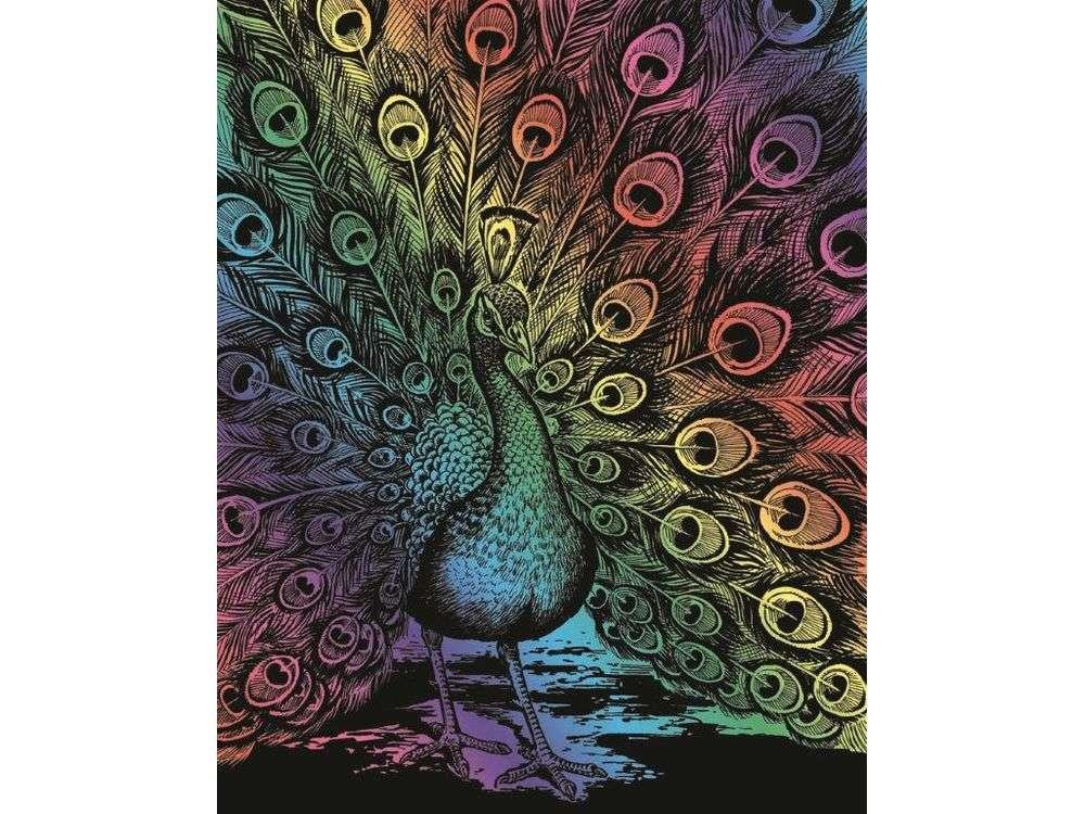 Гравюра «Павлин»Гравюры<br>Красивые образы, созданные при помощи гравировки, привлекают и техникой исполнения, и результатом.<br><br> Основа - плотный картон со специальным черным матовым покрытием и с нанесенным на него контуром-наброском. Аккуратно сцарапывайте покрытие с наброска с по...<br><br>Артикул: 543<br>Размер: 20,4x25,5<br>Цвет: Разноцветные