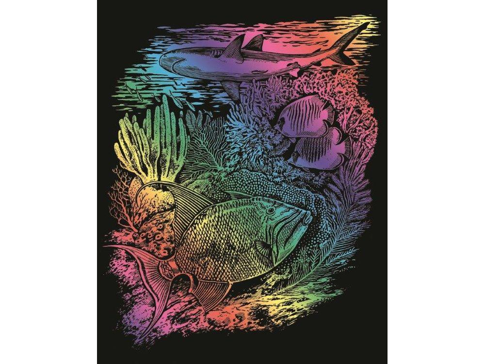 Гравюра «Морская жизнь»Гравюры<br>Красивые образы, созданные при помощи гравировки, привлекают и техникой исполнения, и результатом.<br><br> Основа - плотный картон со специальным черным матовым покрытием и с нанесенным на него контуром-наброском. Аккуратно сцарапывайте покрытие с наброска с по...<br><br>Артикул: 544<br>Размер: 20,4x25,5 см<br>Цвет: Разноцветные