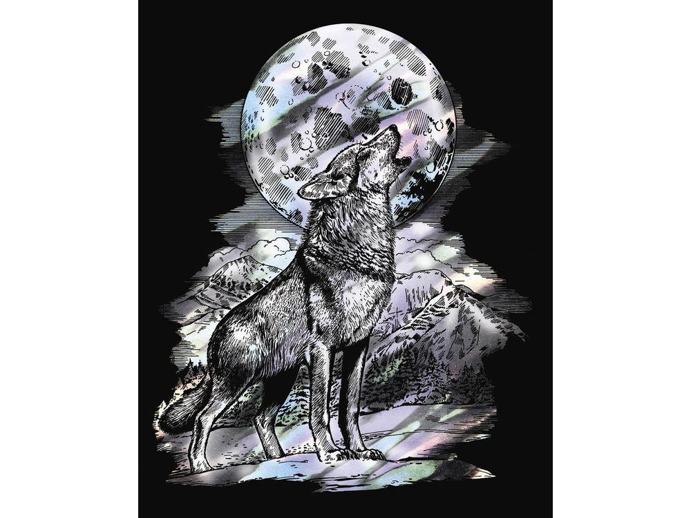 Гравюра «Волк»
