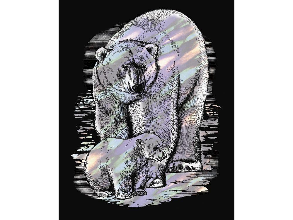 Гравюра «Полярные медведи»