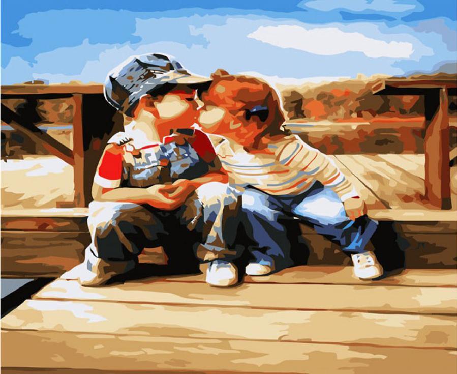 «Поцелуй у реки»Картины по номерам Белоснежка<br><br><br>Артикул: 561-CG<br>Основа: Холст<br>Сложность: средние<br>Размер: 40x50 см<br>Количество цветов: 25<br>Техника рисования: Без смешивания красок
