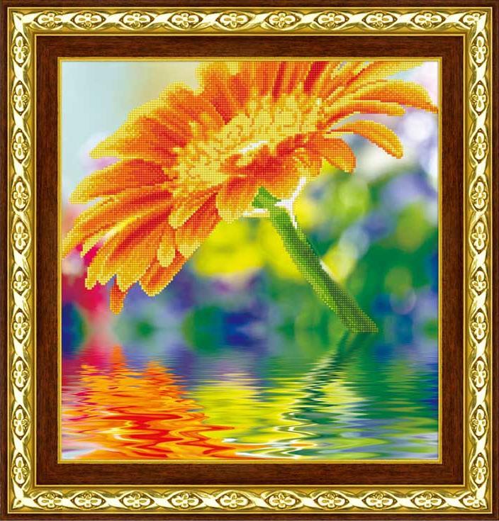 Стразы «Солнечный цветок»Алмазная вышивка Color Kit (Колор Кит)<br><br><br>Артикул: 80133<br>Основа: Холст без подрамника<br>Сложность: средние<br>Размер: 49x49 см<br>Выкладка: Частичная<br>Количество цветов: 13<br>Тип страз: Круглые непрозрачные (акриловые)