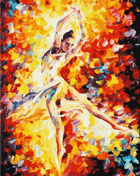 «Балерина» Леонида АфремоваКартины по номерам Белоснежка<br><br><br>Артикул: 805-АВ-C<br>Основа: Цветной холст<br>Сложность: очень сложные<br>Размер: 40x50 см<br>Количество цветов: 40<br>Техника рисования: Без смешивания красок