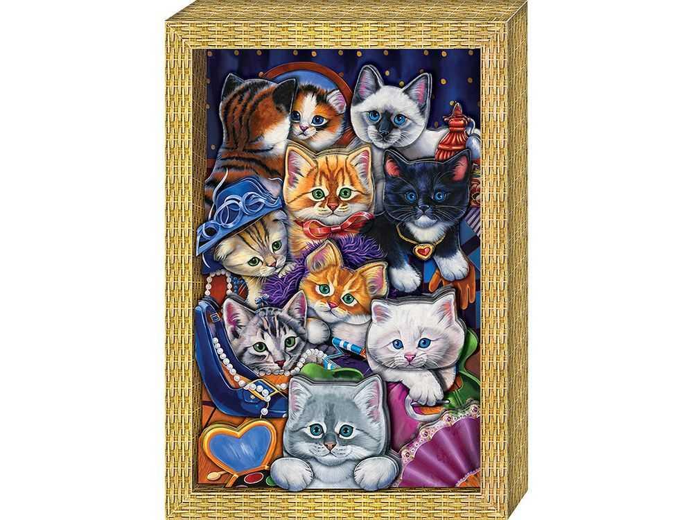 Объемная картина «Я люблю котят»Клевер<br>Набор для создания объемной картины Я люблю котят полностью укомплектован для творчества.<br><br>Комплектация:<br> - набор цветных заготовок из плотной бумаги;<br> - картонная картинка-фон;<br> - комплект квадратов объемного двухстороннего скотча;<br> - рамка-коробка.<br><br>С...<br><br>Артикул: АБ21-111<br>Основа: Картон<br>Размер: 20x29 см