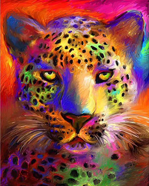 Стразы «Цветной гепард»Алмазная вышивка Color Kit (Колор Кит)<br><br><br>Артикул: CKC039<br>Основа: Холст на подрамнике<br>Сложность: средние<br>Размер: 40x50 см<br>Выкладка: Полная<br>Количество цветов: 26<br>Тип страз: Круглые прозрачные (стеклянные)
