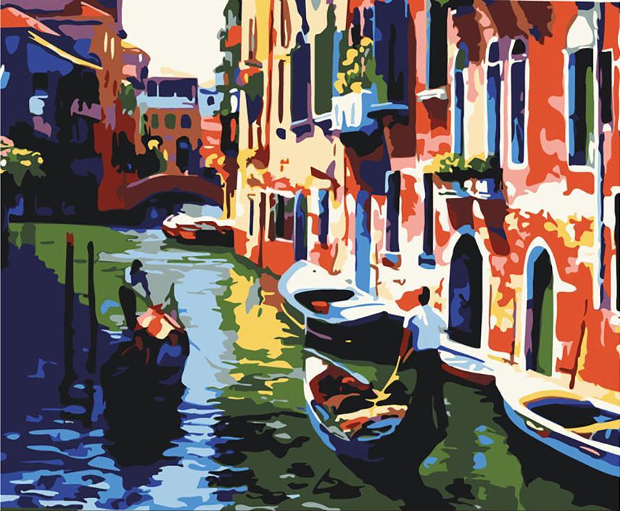 «Венеция в полдень»Раскраски по номерам Color Kit<br><br><br>Артикул: G086<br>Основа: Холст<br>Сложность: сложные<br>Размер: 40x50 см<br>Количество цветов: 35<br>Техника рисования: Без смешивания красок