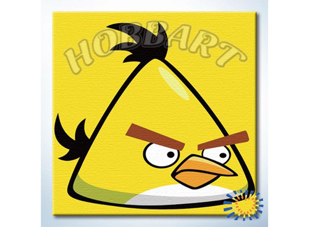 «Angry Birds. Свирепый желтый»20x20<br><br><br>Артикул: HB2020052<br>Основа: Холст<br>Сложность: очень легкие<br>Размер: 20x20 см<br>Количество цветов: 9<br>Техника рисования: Без смешивания красок