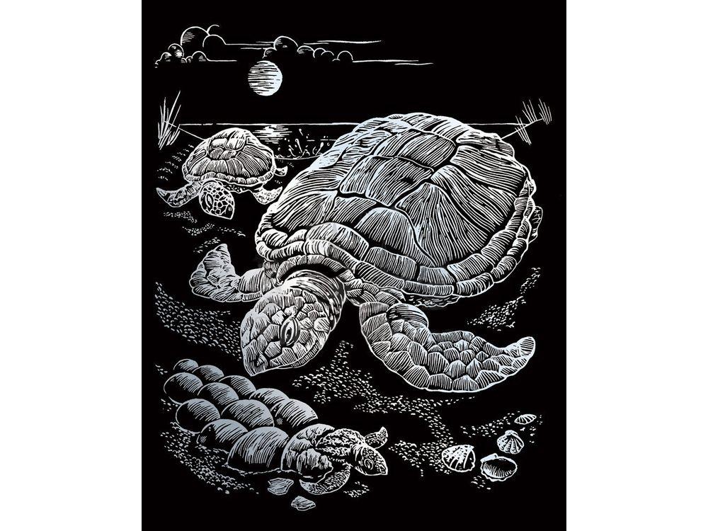 Гравюра «Морские черепахи»Гравюры<br>Красивые образы, созданные при помощи гравировки, привлекают и техникой исполнения, и результатом.<br><br> Основа - плотный картон со специальным черным матовым покрытием и с нанесенным на него контуром-наброском. Аккуратно сцарапывайте покрытие с наброска с по...<br><br>Артикул: HOLO13<br>Размер: 20,3x25,4 см<br>Цвет: Серебро (голографические)