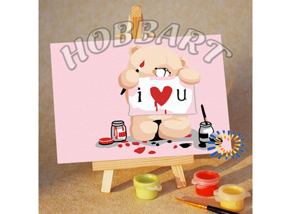 Картина по номерам «Сердечное признание»10x15<br><br><br>Артикул: M1015004<br>Основа: Картон<br>Сложность: очень легкие<br>Размер: 10x15 см<br>Количество цветов: 8<br>Техника рисования: Без смешивания красок
