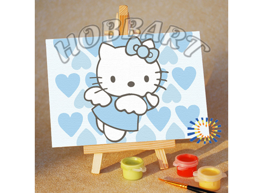 «Hello Kitty: просто Ангел»10x15<br><br><br>Артикул: M1015095<br>Основа: Картон<br>Сложность: очень легкие<br>Размер: 10x15 см<br>Количество цветов: 5<br>Техника рисования: Без смешивания красок
