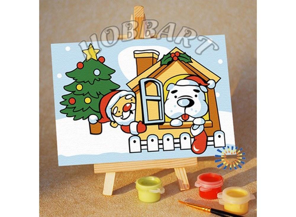 «Праздник в каждый дом»10x15<br><br><br>Артикул: M1015110<br>Основа: Картон<br>Сложность: очень легкие<br>Размер: 10x15 см<br>Количество цветов: 8<br>Техника рисования: Без смешивания красок