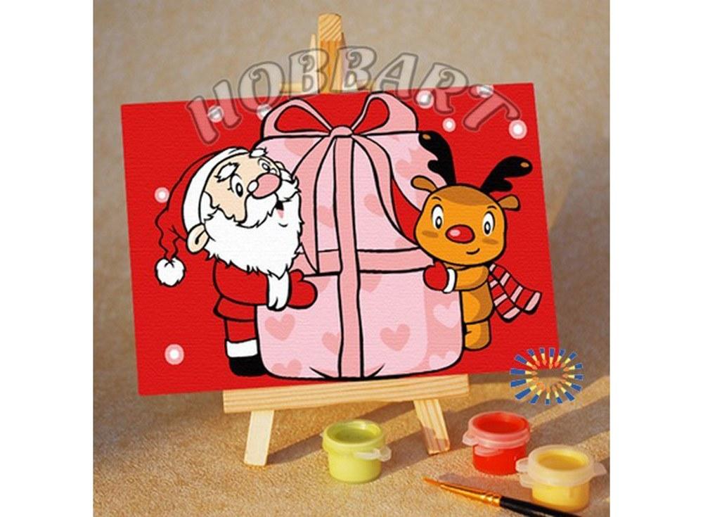 «Твой подарок!»10x15<br><br><br>Артикул: M1015111<br>Основа: Картон<br>Сложность: очень легкие<br>Размер: 10x15 см<br>Количество цветов: 8<br>Техника рисования: Без смешивания красок
