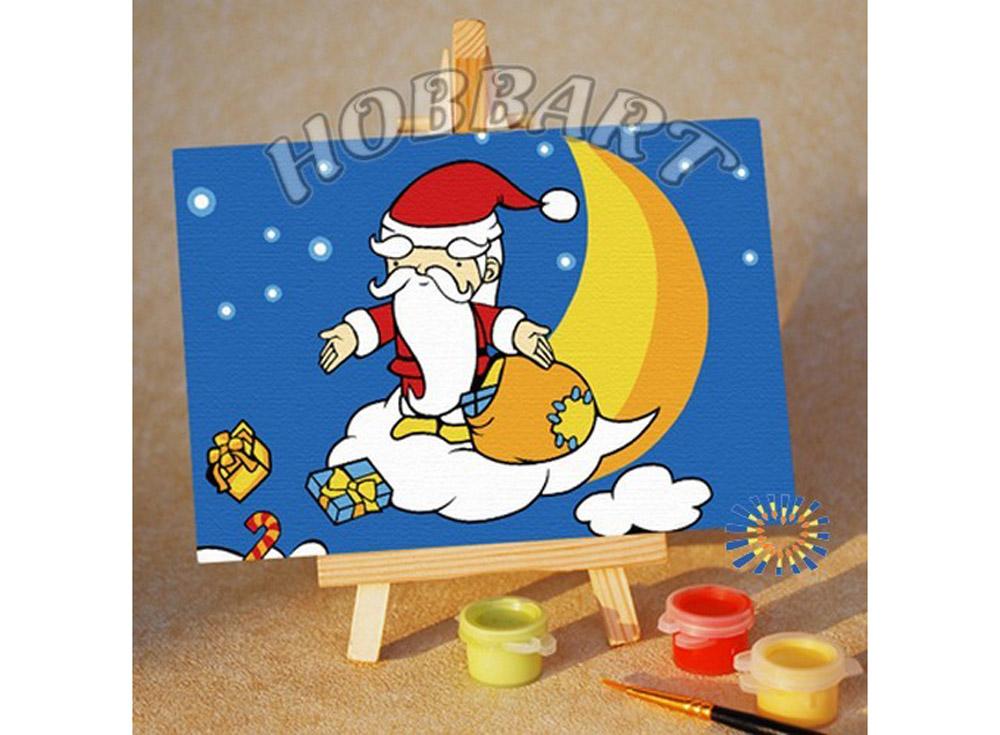 «Подарки Деда Мороза»10x15<br><br><br>Артикул: M1015115<br>Основа: Картон<br>Сложность: очень легкие<br>Размер: 10x15 см<br>Количество цветов: 8<br>Техника рисования: Без смешивания красок