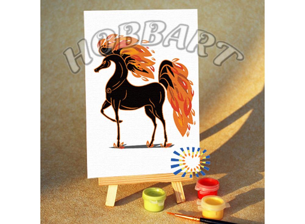 «Златогривый»10x15<br><br><br>Артикул: M1015147<br>Основа: Картон<br>Сложность: очень легкие<br>Размер: 10x15<br>Количество цветов: 7<br>Техника рисования: Без смешивания красок