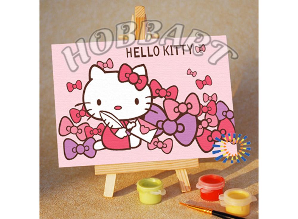«Hello Kitty. Письмо про нежность»10x15<br><br><br>Артикул: M1015150<br>Основа: Картон<br>Сложность: очень легкие<br>Размер: 10x15 см<br>Количество цветов: 6<br>Техника рисования: Без смешивания красок