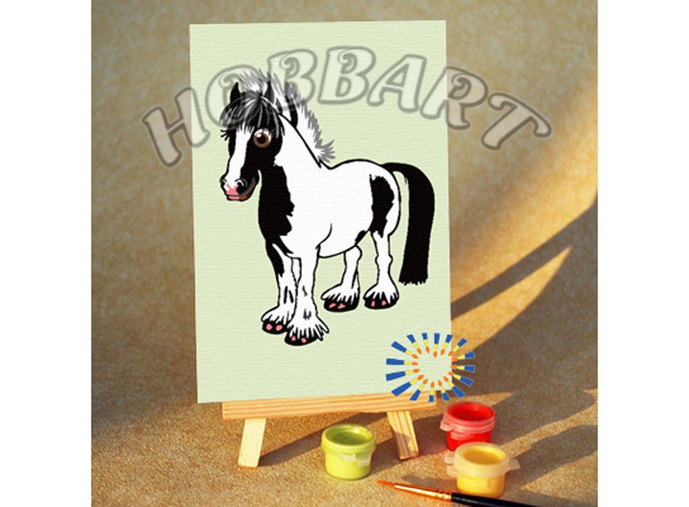 Картина по номерам «Мой маленький пони»10x15<br><br><br>Артикул: M1015197<br>Основа: Картон<br>Сложность: очень легкие<br>Размер: 10x15 см<br>Количество цветов: 7<br>Техника рисования: Без смешивания красок