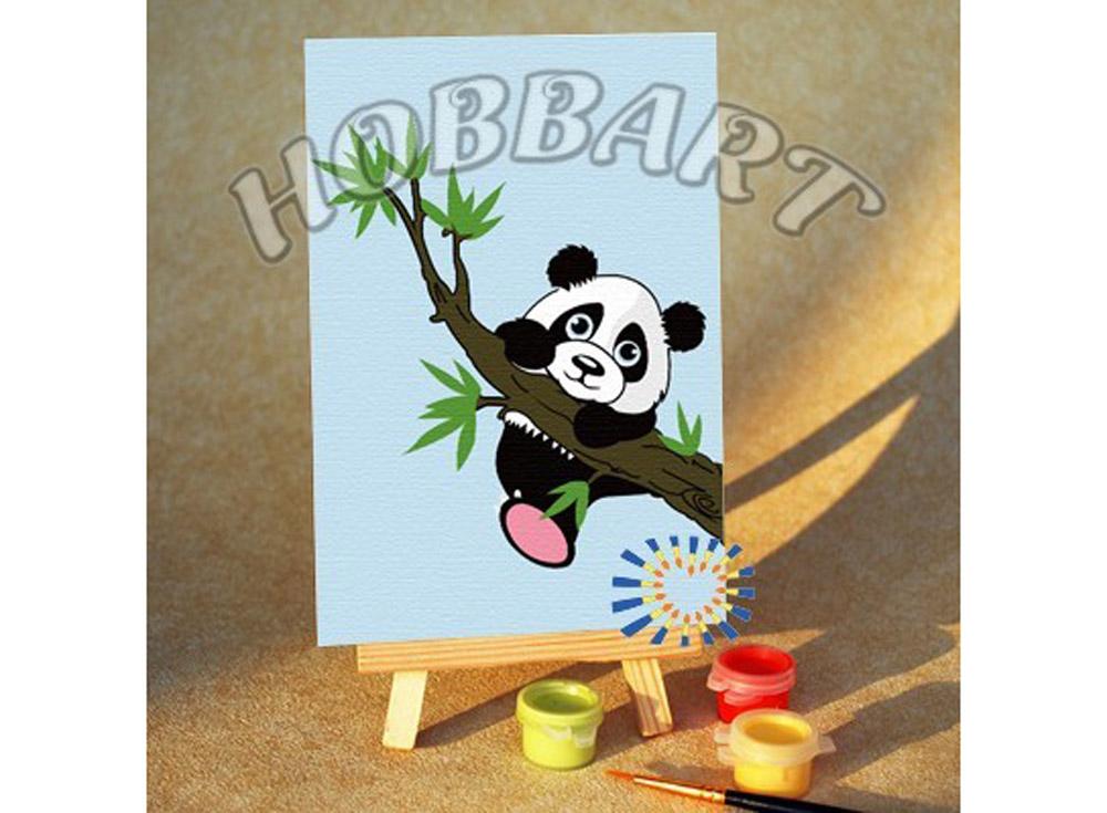 Картина по номерам «Шалун»10x15<br><br><br>Артикул: M1015198<br>Основа: Картон<br>Сложность: очень легкие<br>Размер: 10x15 см<br>Количество цветов: 8<br>Техника рисования: Без смешивания красок