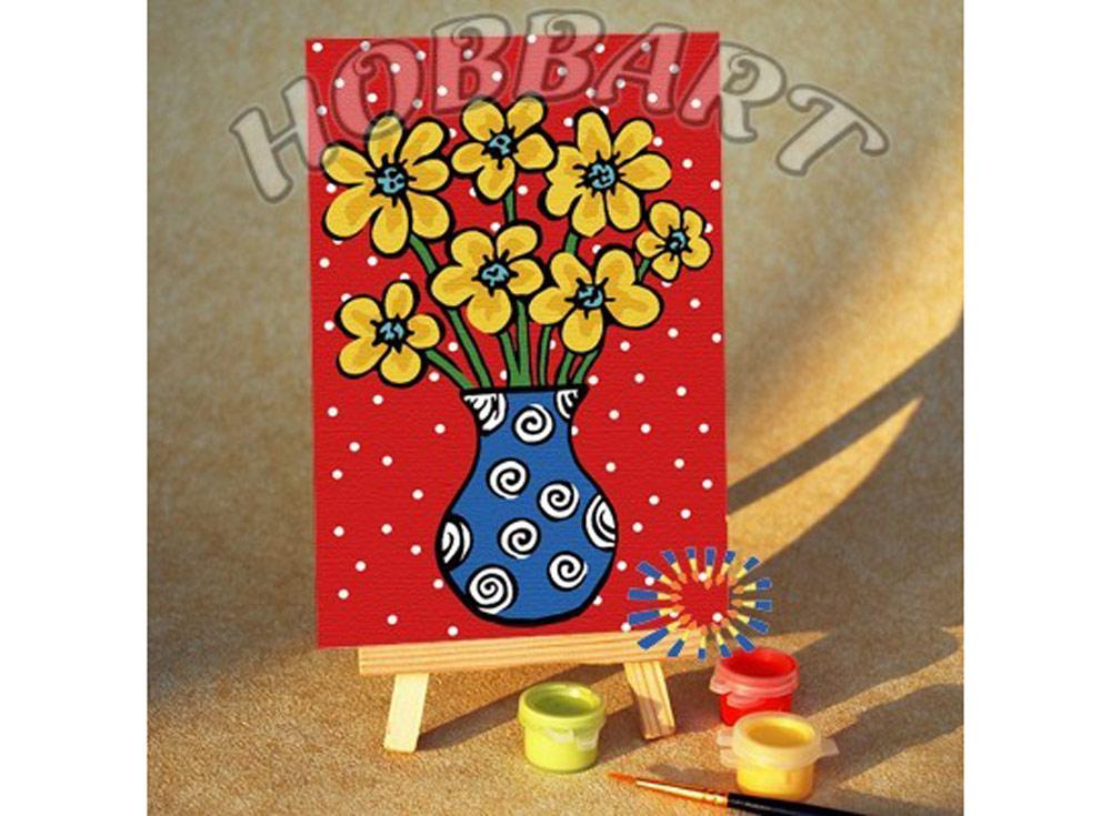 «Солнечный букет»10x15<br><br><br>Артикул: M1015235<br>Основа: Картон<br>Сложность: очень легкие<br>Размер: 10x15 см<br>Количество цветов: 8<br>Техника рисования: Без смешивания красок