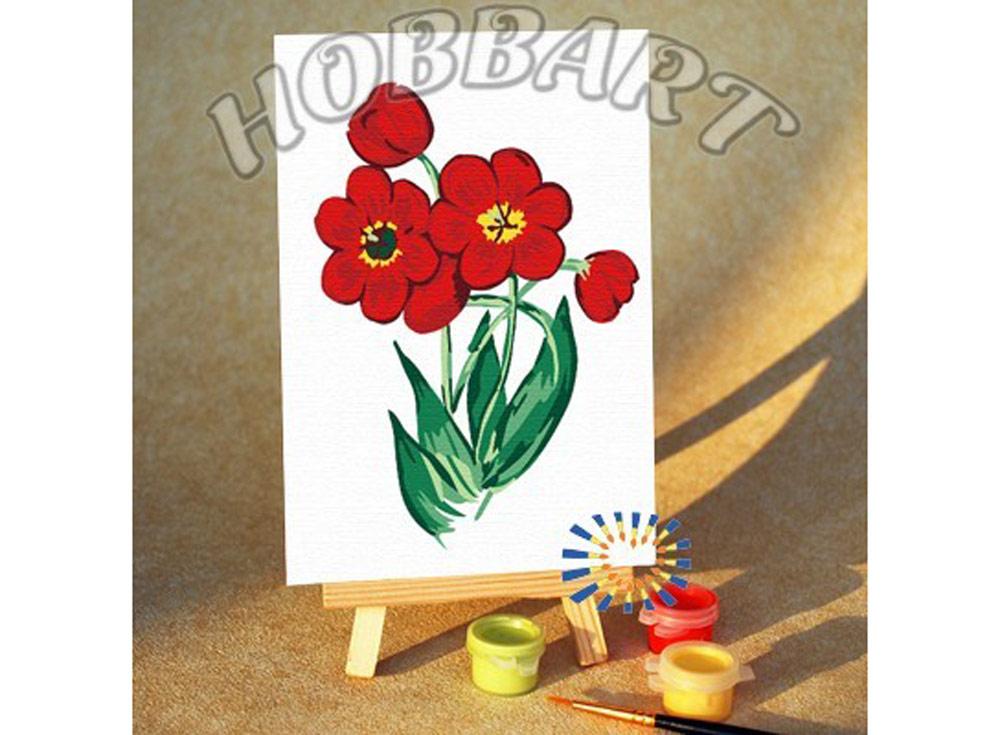 «Фанфан тюльпан»10x15<br><br><br>Артикул: M1015897<br>Основа: Картон<br>Сложность: очень легкие<br>Размер: 10x15<br>Количество цветов: 9<br>Техника рисования: Без смешивания красок