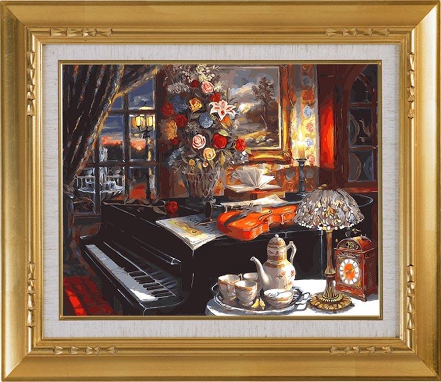 Картина по номерам «Уютная гостиная»Раскраски по номерам Color Kit<br><br>