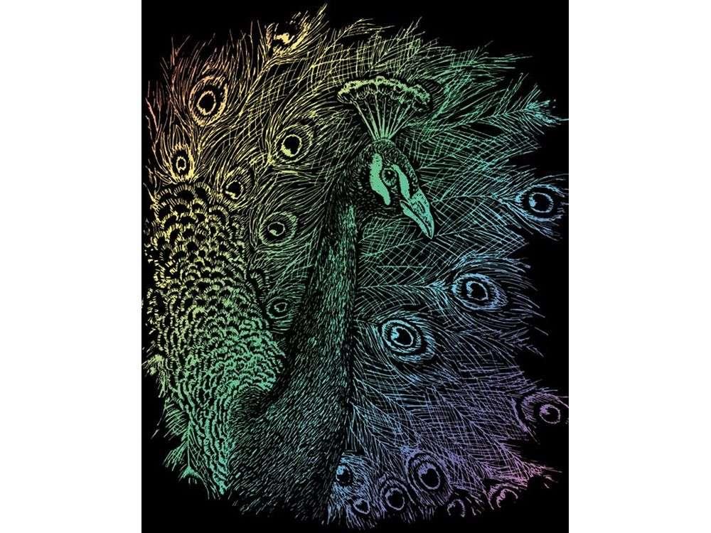 Гравюра «Павлин»Гравюры<br>Красивые образы, созданные при помощи гравировки, привлекают и техникой исполнения, и результатом.<br><br> Основа - плотный картон со специальным черным матовым покрытием и с нанесенным на него контуром-наброском. Аккуратно сцарапывайте покрытие с наброска с по...<br><br>Артикул: RAIN14<br>Размер: 20,3x25,4 см<br>Цвет: Разноцветные
