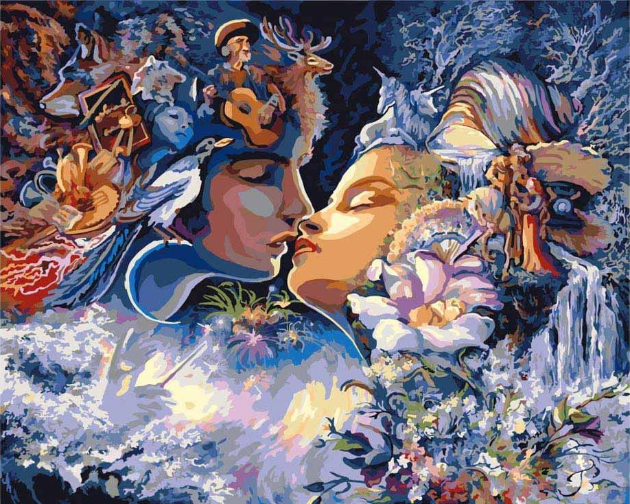 «Фантастический поцелуй»Раскраски по номерам Paintboy (Original)<br><br><br>Артикул: GX7998_R<br>Основа: Холст<br>Сложность: сложные<br>Размер: 40x50 см<br>Количество цветов: 30<br>Техника рисования: Без смешивания красок