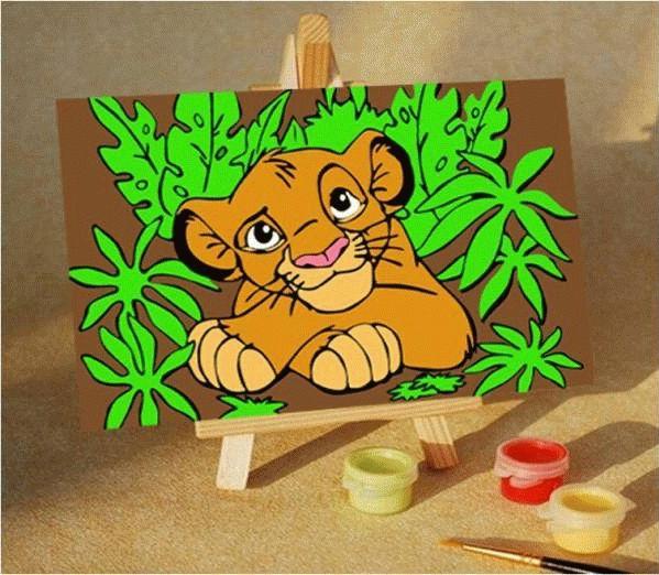 Король левЦветной (Premium)<br><br><br>Артикул: MA242_Z<br>Основа: Картон<br>Сложность: очень легкие<br>Размер: 10x15 см<br>Количество цветов: 6<br>Техника рисования: Без смешивания красок