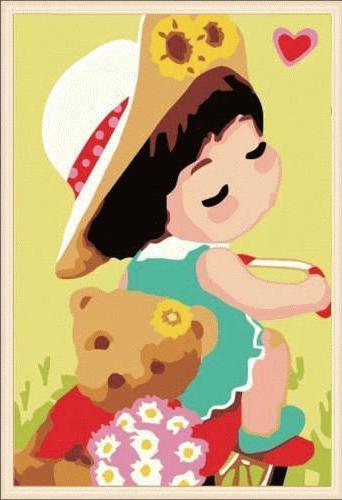 Картина по номерам «Мишка Тедди»Цветной (Premium)<br><br><br>Артикул: MC040_Z<br>Основа: Холст<br>Сложность: средние<br>Размер: 20x30 см<br>Количество цветов: 25<br>Техника рисования: Без смешивания красок