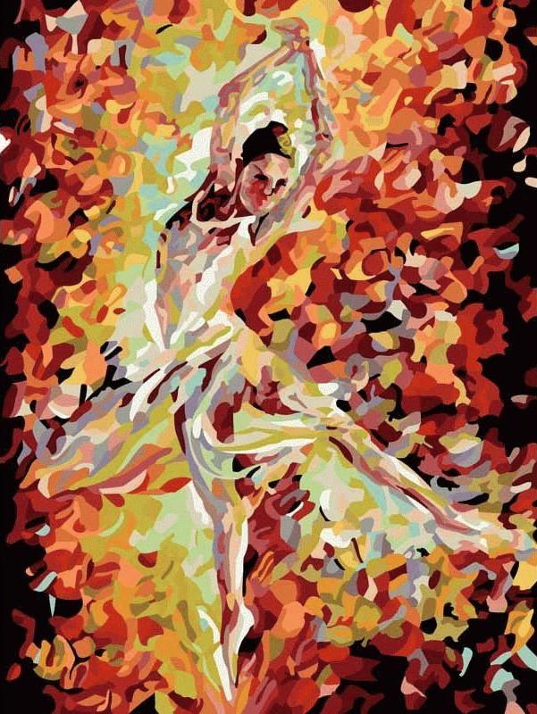 «Балерина» Леонида АфремоваЦветной (Premium)<br>Можно ли изобразить энергетику танца на картине? Движение, пластику, стремление выразить себя? Леониду Афремову это оказалось под силу, а теперь, благодаря картинам по номерам на холсте, это волшебство доступно и Вам. «Балерина» - раскраска, обладающая со...<br><br>Артикул: ME042_Z<br>Основа: Цветной холст<br>Сложность: средние<br>Размер: 30x40 см<br>Количество цветов: 25<br>Техника рисования: Без смешивания красок