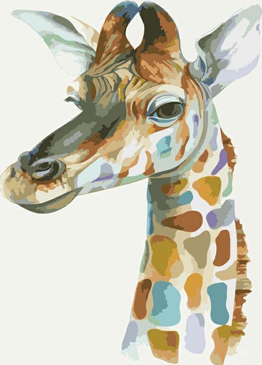 «Жираф» Брэндона КинераЦветной (Premium)<br><br><br>Артикул: ME1003_Z<br>Основа: Цветной холст<br>Сложность: легкие<br>Размер: 30x40 см<br>Количество цветов: 25<br>Техника рисования: Без смешивания красок