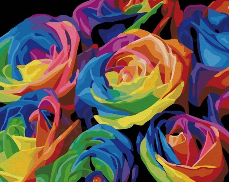 РадугаЦветной (Premium)<br>Радуга<br><br>Артикул: MG001_Z<br>Основа: Холст<br>Сложность: легкие<br>Размер: 40x50<br>Количество цветов: 28<br>Техника рисования: Без смешивания красок