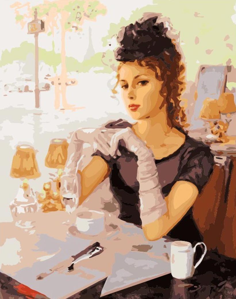 «Элегантность» Константина РазумоваЦветной (Premium)<br>Прекрасная леди на картине по номерам «Элегантность» очаровывает своей красотой. Женщина из мечты Константина Разумова немного рассеяно наблюдает за окружающим миром, глядя на нее, понимаешь, что ежедневные трудности и бытовые проблемы – это такие мелочи ...<br><br>Артикул: MG291_Z<br>Основа: Холст<br>Сложность: сложные<br>Размер: 40x50<br>Количество цветов: 29<br>Техника рисования: Без смешивания красок
