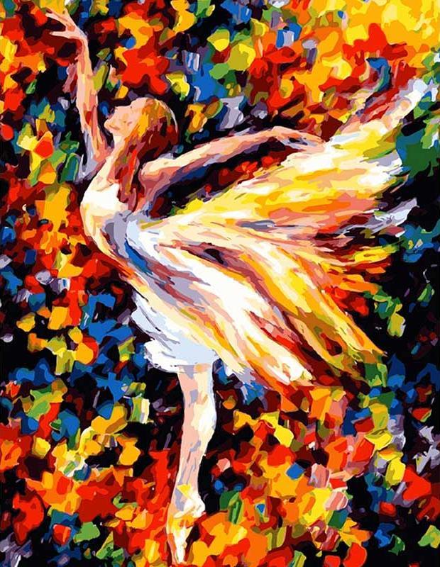 «В танце» Леонида АфремоваЦветной (Premium)<br><br><br>Артикул: MG1019_Z<br>Основа: Холст<br>Сложность: средние<br>Размер: 40x50 см<br>Количество цветов: 25<br>Техника рисования: Без смешивания красок