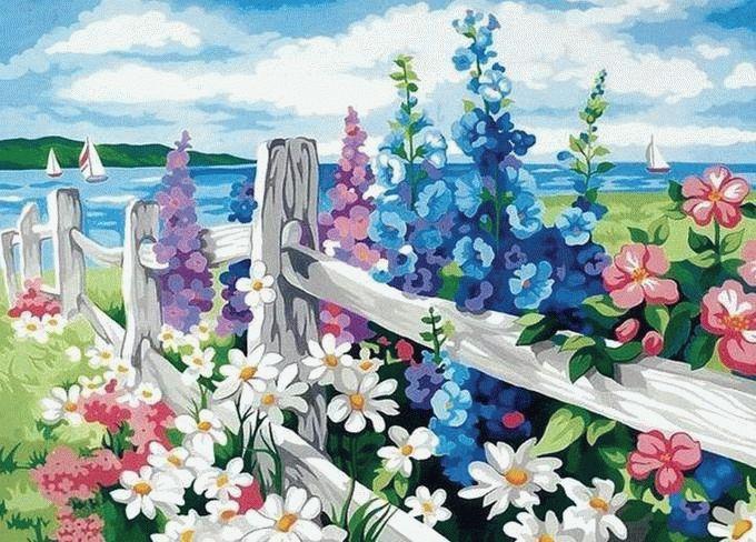 Картина по номерам «За околицей»Раскраски по номерам<br><br>
