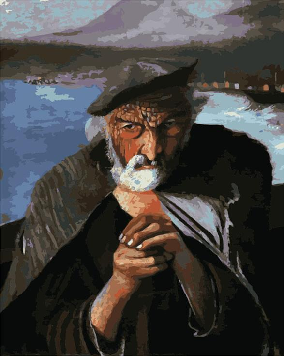 Картина по номерам «Старый рыбак» Тивадара Костки (Чонтвари)Цветной (Premium)<br>В 1902 году Тивадаром Косткой (Чонтвари) была создана картина «Старый рыбак», теперь уже известное на весь мир полотно, ведь смысл картины поистине мистический.<br> <br> Кстати, благодаря именно этому полотну Тивадар стал знаменит. Один из сотрудников музея, ра...<br><br>Артикул: MG2012_Z<br>Основа: Холст<br>Сложность: средние<br>Размер: 40x50 см<br>Количество цветов: 25<br>Техника рисования: Без смешивания красок