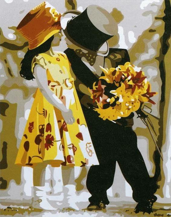 Картина по номерам «Галантность» Кима АндерсонаЦветной (Premium)<br>Галантность<br><br>Артикул: ME100_Z<br>Основа: Холст<br>Сложность: средние<br>Размер: 30x40 см<br>Количество цветов: 25<br>Техника рисования: Без смешивания красок