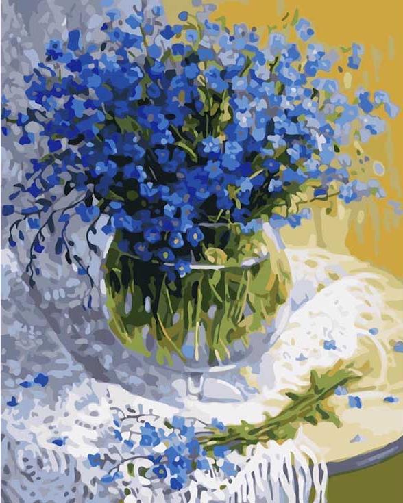Картина по номерам «Полевые цветы» Жанны СидоренкоРаскраски по номерам<br><br>