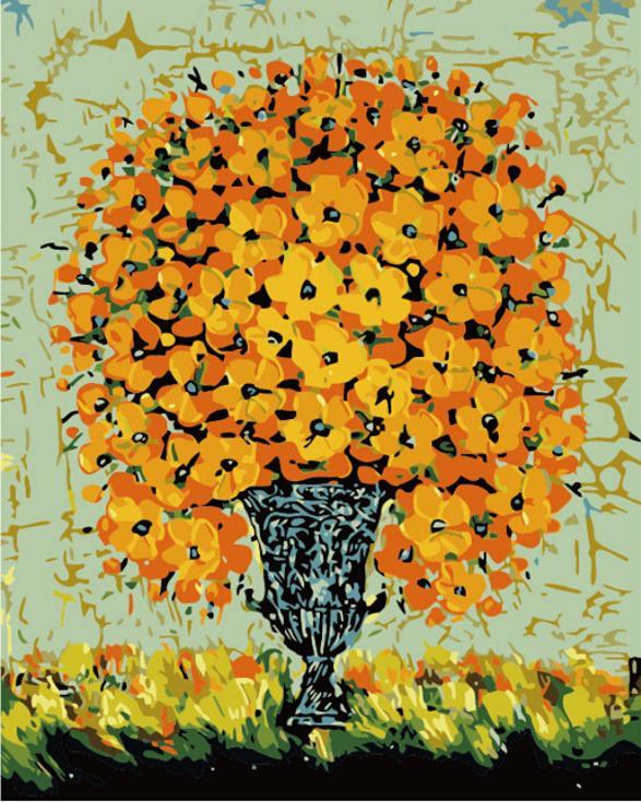 «Необычные цветы»Цветной (Premium)<br><br><br>Артикул: MG574_Z<br>Основа: Холст<br>Сложность: сложные<br>Размер: 40x50<br>Количество цветов: 25<br>Техника рисования: Без смешивания красок