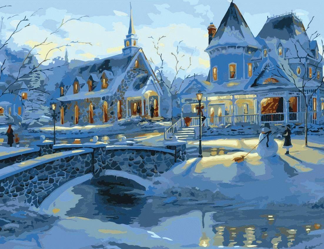 «Зимним вечером» Роберта ФайнэлаЦветной (Premium)<br>Красивый и воздушный сюжет, созданный Робертом Файнэлом, украсит интерьер и ?оживит? энергетику дома. Он создает ощущение свежести, и при взгляде на картину забываешь, что за окном, возможно, совершенно другая погода, будто морозный хрустально чистый возд...<br><br>Артикул: MMC012_Z<br>Основа: Холст<br>Сложность: средние<br>Размер: 50x65 см<br>Количество цветов: 25<br>Техника рисования: Без смешивания красок