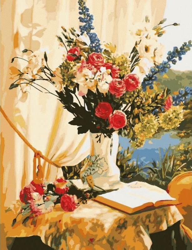 Картина по номерам «За книгой» Робин АндерсонРаскраски по номерам Menglei (Standart)<br><br><br>Артикул: MMC048_S<br>Основа: Холст<br>Сложность: сложные<br>Размер: 50x65 см<br>Количество цветов: 29<br>Техника рисования: Без смешивания красок