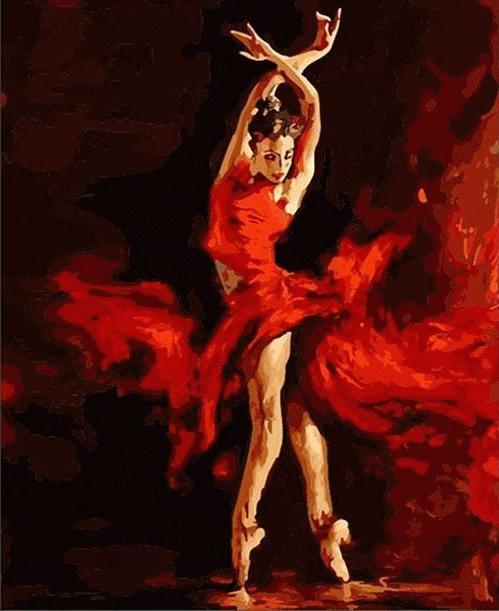 «Огненный танец» Андрея АтрошенкоЦветной (Premium)<br>Огненный характер, грациозное вдохновение и восторженная красота - все это о прекрасной девушке, образ которой мастерски создал Андрей Атрошенко. Картина наполнена динамичной силой, огонь - в движении, в цветовой гамме и даже в стиле одежды. Эта картина п...<br><br>Артикул: MMC054_Z<br>Основа: Холст<br>Сложность: средние<br>Размер: 50x65 см<br>Количество цветов: 25<br>Техника рисования: Без смешивания красок
