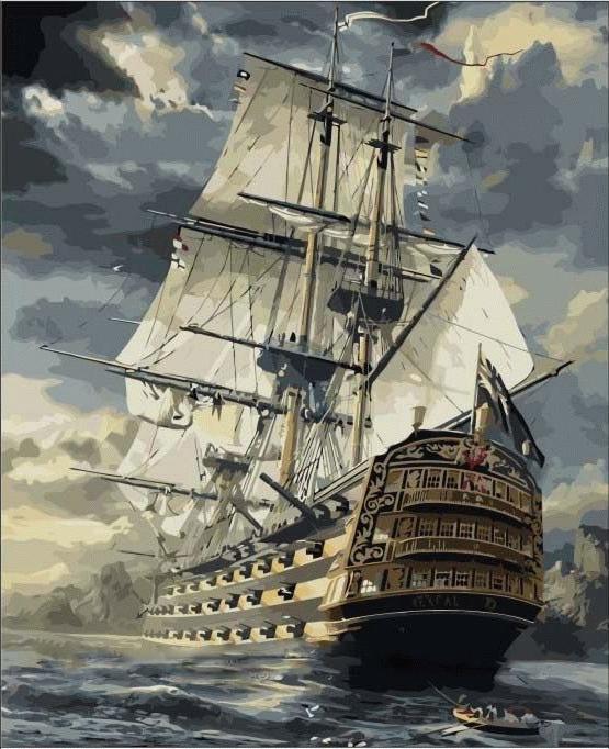 «Бригантина» Сарела ТеронаЦветной (Premium)<br>Путь в новую жизнь, к новым берегам, к новым достижениям и успехам - эта картина по номерам для всех, кто хочет подняться по карьерной лестнице или расширить границы своего бизнеса. Пусть конкуренты и соперники попробуют догнать великолепный корабль мечты...<br><br>Артикул: MMC067_Z<br>Основа: Холст<br>Сложность: средние<br>Размер: 50x65<br>Количество цветов: 25<br>Техника рисования: Без смешивания красок