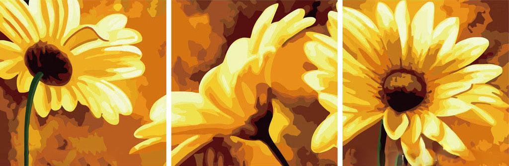 ХризантемыЦветной (Premium)<br>Хризантемы<br><br>Артикул: MT3028_Z<br>Основа: Холст<br>Сложность: легкие<br>Размер: 3 шт. 50x50 см<br>Количество цветов: 15<br>Техника рисования: Без смешивания красок