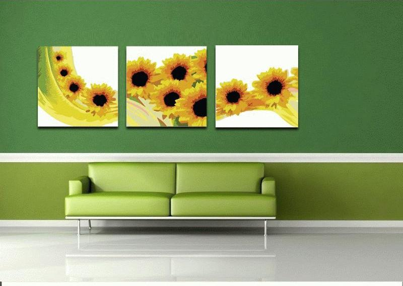 Солнечная волнаЦветной (Premium)<br>Картина по номерам «Солнечная волна» наполнит теплом любую комнату. У многих народов есть легенды, связанные с подсолнухами, и во всех преданиях этот цветок связан с Солнцем. В одном из сказаний говорится, что боги подарили подсолнух людям для того, чтобы...<br><br>Артикул: MT3043_Z<br>Основа: Холст<br>Сложность: средние<br>Размер: 3 шт. 50x50 см<br>Количество цветов: 12<br>Техника рисования: Без смешивания красок