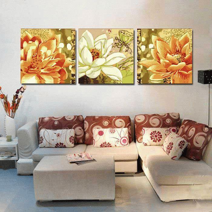 Белые и желтые хризантемыЦветной (Premium)<br><br><br>Артикул: MT3055_Z<br>Основа: Холст<br>Сложность: сложные<br>Размер: 3 шт. 50x50 см<br>Количество цветов: 25<br>Техника рисования: Без смешивания красок