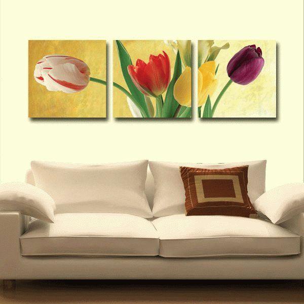 Радуга тюльпановЦветной (Premium)<br>Тюльпаны известны во всем мире, но страной этих цветов все же считают Голландию. Каждый год, в конце апреля, в пору цветения тюльпанов, в Голландии устраивают парад цветов. Это грандиозный фестиваль, который собирает сотни тысяч поклонников. А в парке Кей...<br><br>Артикул: MT3075_Z<br>Основа: Холст<br>Сложность: сложные<br>Размер: 3 шт. 50x50 см<br>Количество цветов: 25<br>Техника рисования: Без смешивания красок