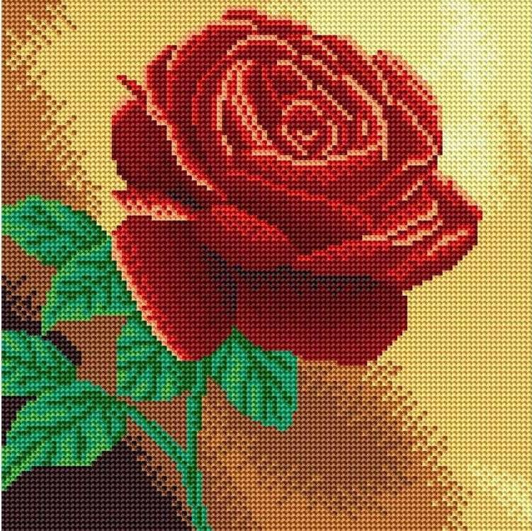 Стразы «Красная роза»Алмазная вышивка фирмы Белоснежка<br><br><br>Артикул: 038-RS-R<br>Основа: Холст на подрамнике<br>Сложность: средние<br>Размер: 30x30 см<br>Выкладка: Полная<br>Количество цветов: 8-15<br>Тип страз: Круглые прозрачные (стеклянные)